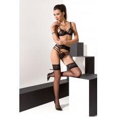 Комплект белья FLORIS SET black Passion